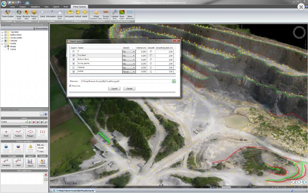 Virtual Surveyor exports to CAD and GIS