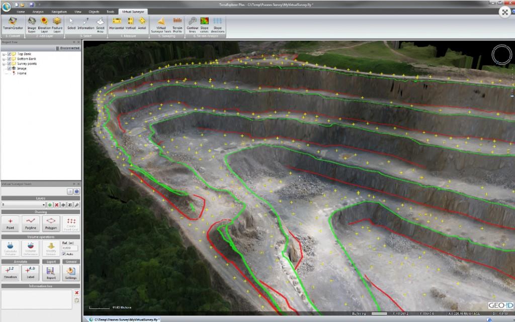 Virtual Surveyor measures vertically
