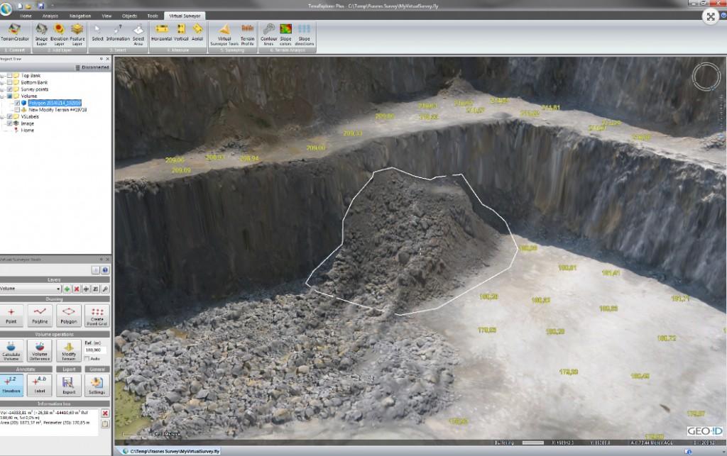 Virtual Surveyor Volume Analysis