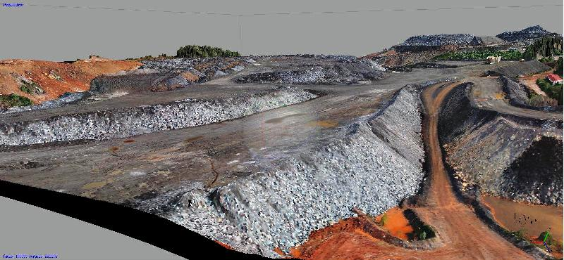 3D model created by Micro Aerial Projects of a mine