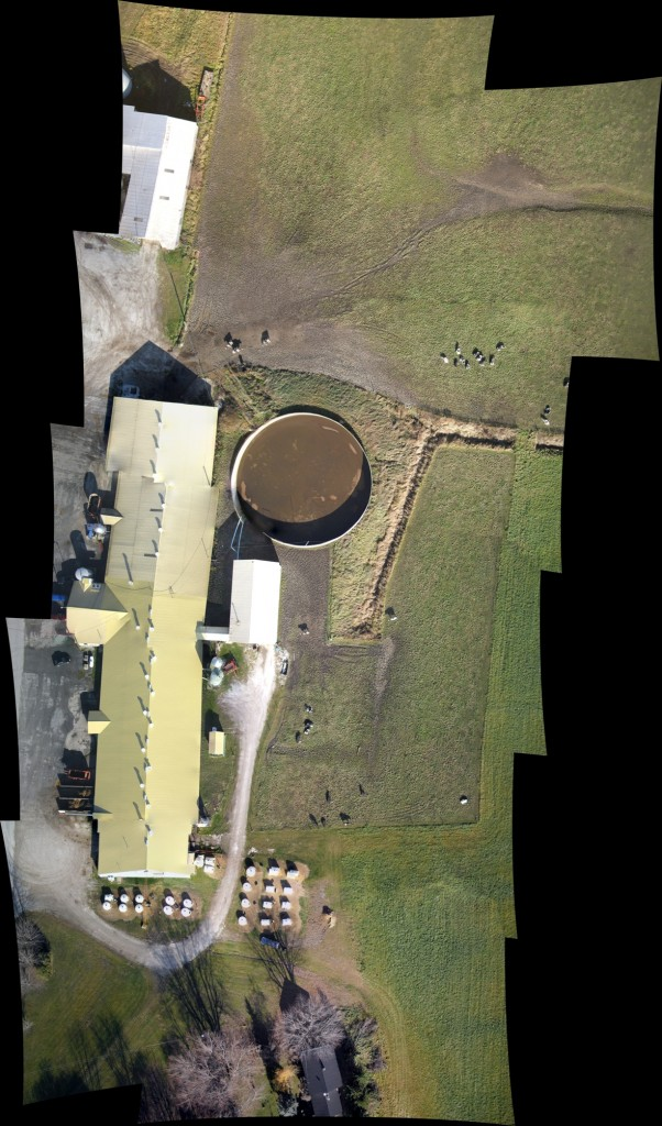 mosaic made by Micro Aerial Projects of a dairy farm in Canada, stitched on site prior to de-mobilization for preliminary image quality control
