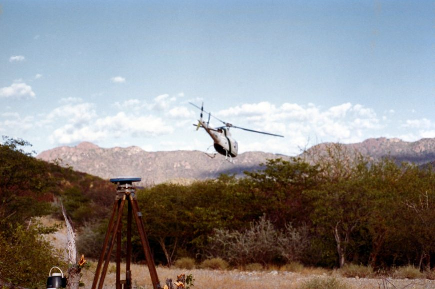 helicopter use in GPS surveying