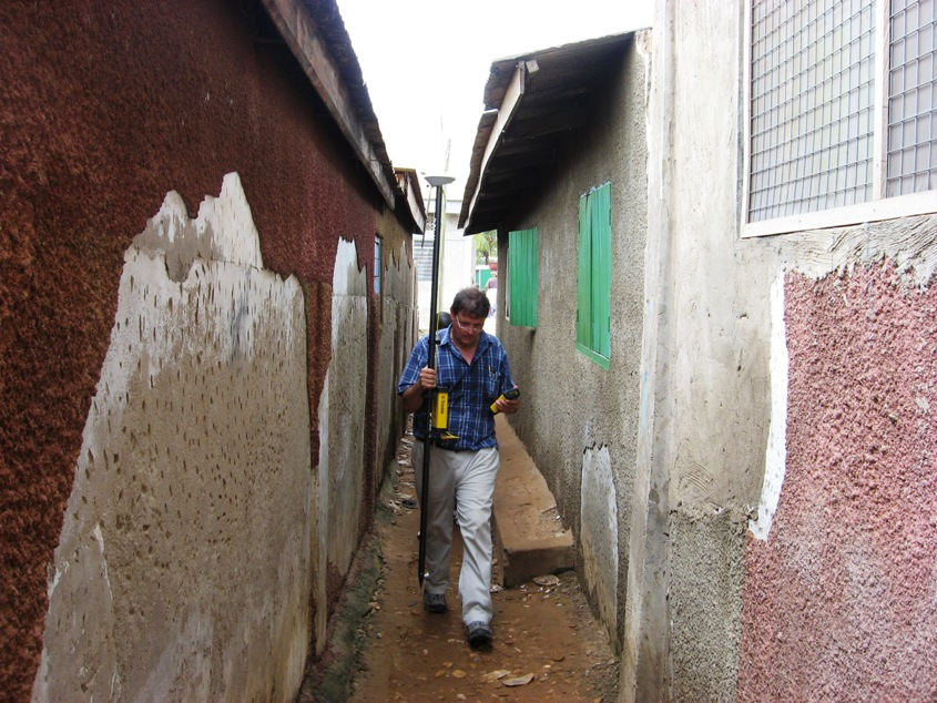 surveying an African township