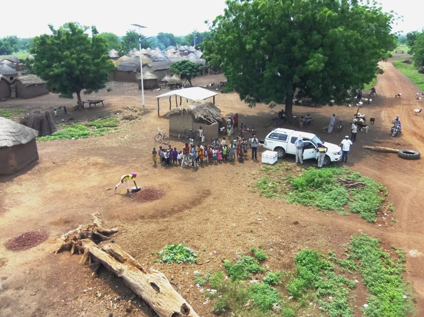using a small uav to survey and map a village