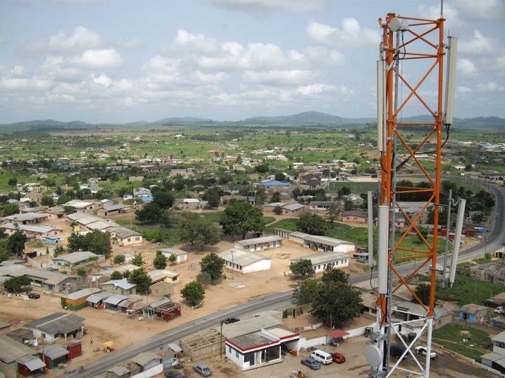 inspecting infrastructure in Ghana