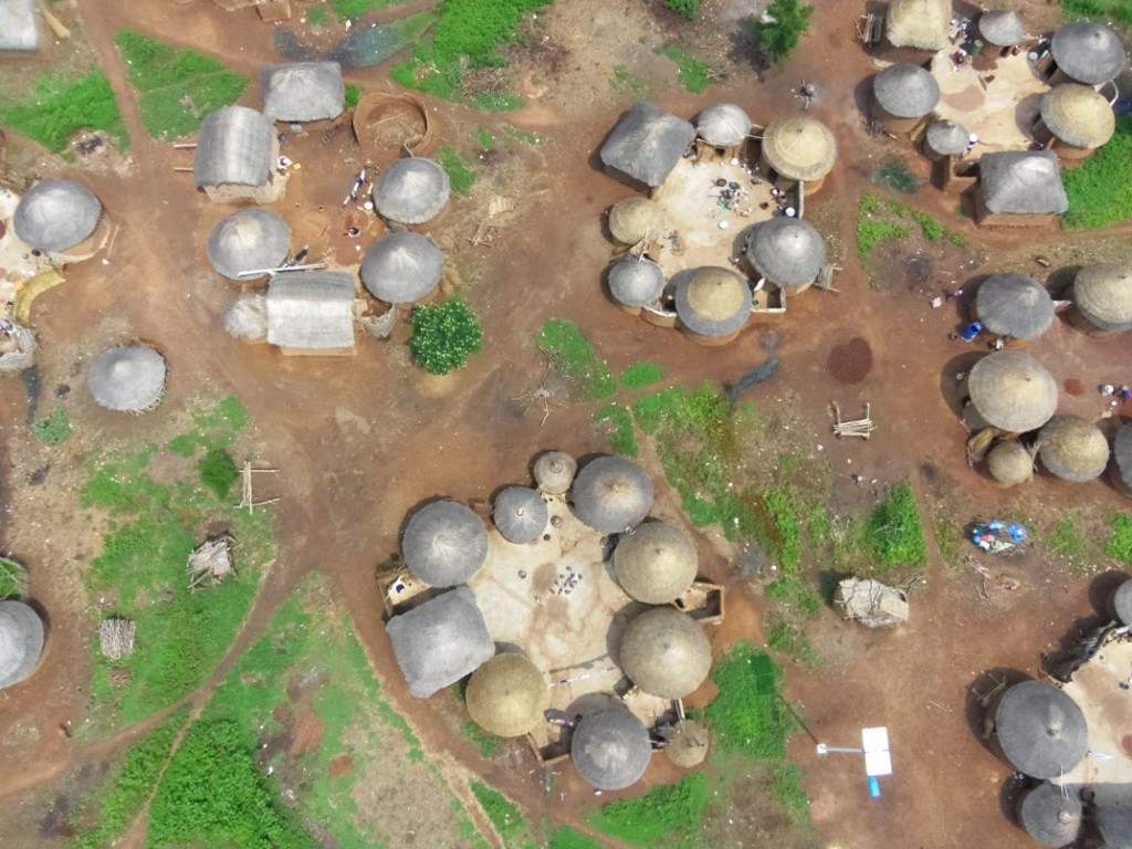aerial view taken by Micro Aerial Projects of village in Ghana