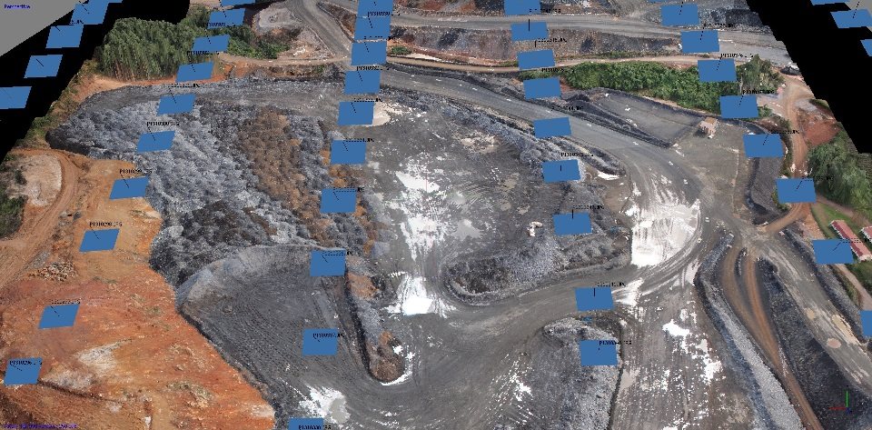 Micro Aerial Projects using small uavs in the mining industry and inspecting stockpiles, dominican republic