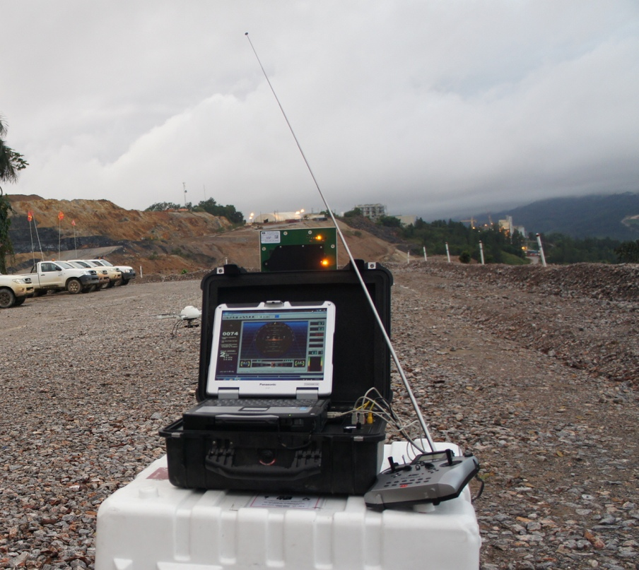Micro Aerial Projects monitoring a uav over a mine
