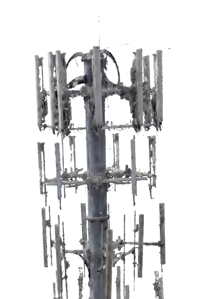 3D model created by Micro Aerial Projects from UAV acquired images taken during a cell phone tower inspection in Florida, USA