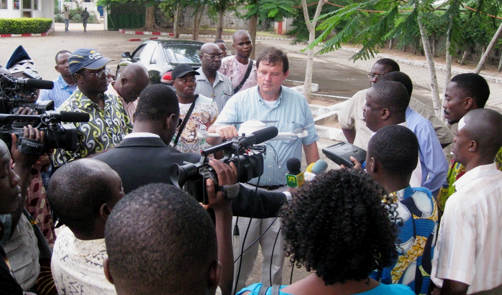 Walter Volkmann of Micro Aerial Projects demonstrating uav use in development in Benin