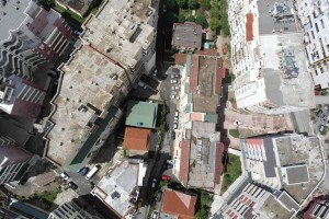 View showing density of Tirana development