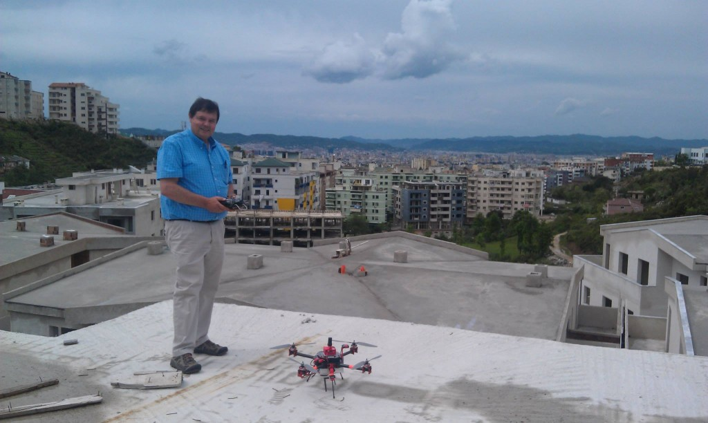 ready to map from the rooftop