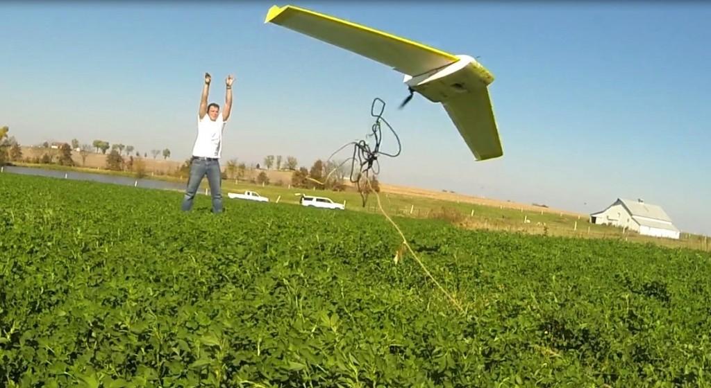 Bateleur UAV up and into the air